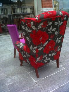 Flowers Wingback Chair, Armchair, Accent Chairs, My Photos, Flowers, Furniture, Home Decor, Sofa Chair, Upholstered Chairs