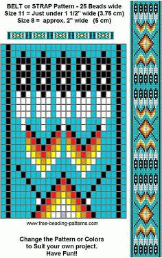 free beading patterns | free-beading-pattern-regalia-belt-turquoise