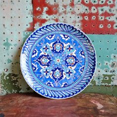 Vintage Turkish Kutahya Cini Handpainted Display Plate