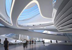 Future design. Architecture. Art. Organic forms.