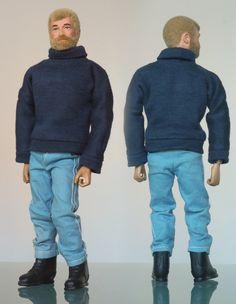 Dark Jeans, Dark Denim, Gi Joe 1, Videogames, White Jumper, Blue Trousers, Male Figure, Colored Denim, Old Toys