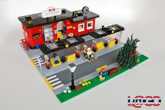 """MOC: City Station. A modern interpretation of the classic set 379, Bus Station, from 1979. Part of my """"Updated Classics"""" series - an ever-growing number of sets I've re-interpreted in order to make them fit better with modern LEGO City vehicles and buildings. I've known for a while that I wanted to update the classic bus station - while it's not a set that I owned when I was a kid, it's one that I thought could make for a very interesting redux. It's the bigge..."""