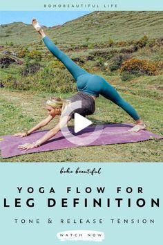 This Boho Beautiful yoga class is a 20 minute flow for all levels. This class is everything you need to enhance your beautiful leg definition. #morningyoga Yoga Flow Sequence, Yoga Sequences, Yoga Videos, Workout Videos, Yoga For Legs, Yoga Exercises, Stretches, Yoga Workouts, Boho Beautiful