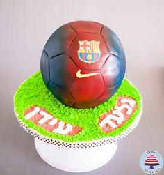 Barcelona Soccer Ball Cake - Veena's Art of Cakes