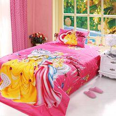 Little Girls Bedding Set 4pcs Twin Size   #100%cotton #Cartoonbedding #Disney #freeshipping #Girlsbedding #MultiplyColors #PrincessBedding #PrincessBeddingSets #Reactiveprinted #Teenbedding #teengirlsbedding #twin #variable #Blue #Frozen #FrozenBeddingSet #Queen