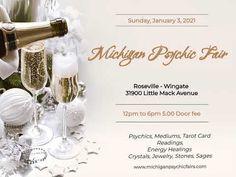 Michigan Psychic Fair Jan 3rd, 2021 Spirit Guides, Crystal Healing, Tarot, Michigan, Join, Sunday, Mindfulness, Place Card Holders, Crystals