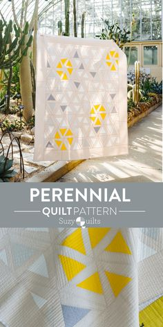 The Perennial quilt from suzyquilts.com is meant to look like wildflowers growing in a meadow. By grouping fabrics by color, you can see the flowers bursting to the forefront inside of the garden. Because these blocks are cut to be wonky, they are each unique. Beauty in chaos! #modernquiltdesign #quilt #fateighthfriendlyquilt Beginner Quilt Patterns, Star Quilt Patterns, Modern Quilt Patterns, Quilting Tutorials, Quilting Designs, Quilt Design, Traditional Quilt Patterns, Thing 1, Machine Quilting