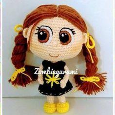 Muñeca amigurumi Tinga patrón gratis Crochet Home, Love Crochet, Beautiful Crochet, Crochet Doll Pattern, Crochet Dolls, Patron Crochet, Doll Tutorial, Amigurumi Doll, Godchild