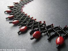Black Garnet Netted Collar  Free Tutorial
