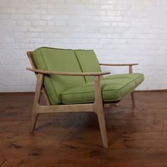 Mid century 2 seater Danish sofa In excellent condition  reupholstered with  a beautiful green cotton fabric  Green sofa W Width of seat D Depth of seat  H  Vtg mid century Greaves   Thomas Reupholstered Linen teak settee  . Mid Century Sofa Buy Uk. Home Design Ideas