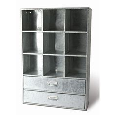Galvanized metal storage unit.  $109 Product: Storage cabinet Construction Material: Metal   Color: Silver  ...