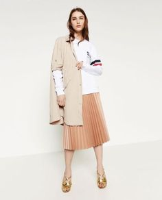 NWT-ZARA-OVERSIZED-SHORT-SLEEVE-FLOWING-JACKET-TRENCH-COAT-NUDE-PINK-5071-022-XS