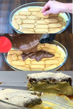 Köstliche Desserts, Delicious Desserts, Candy Recipes, Sweet Recipes, Icebox Cake, Portuguese Recipes, Vegan Dishes, Bakery, Food And Drink
