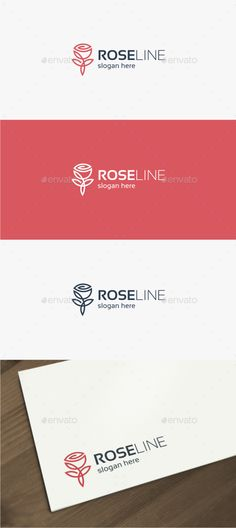 Rose Line - Logo Design Template Vector #logotype Download it here: http://graphicriver.net/item/rose-line-logo/15311558?s_rank=60?ref=nexion