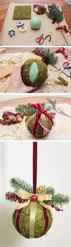 DIY Christmas kissing ball! You can make this in under an hour!