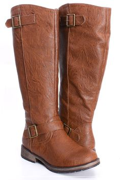 Tan Faux Leather Knee High Double Buckle Rider Boots >> I like these! Do you have these? Do you like them?
