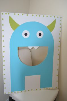 DIY Monster photo booth/bean bag game