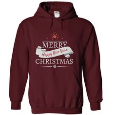 Merry Christmas and Happy New Year 2 T-Shirts, Hoodies. BUY IT NOW ==► https://www.sunfrog.com/Christmas/Merry-Christmas-and-Happy-New-Year-2-Maroon-12577269-Hoodie.html?id=41382