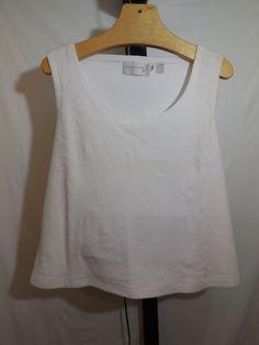 B WOMANS WHITE FRENCH TERRY CLOTH SHIRT TOP DANA BUCHMAN PLUS 3X #DanaBuchman #KnitTop