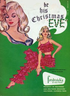"""Fredericks of Hollywood """"Be his Christmas Eve"""" vintage holiday ad!"""