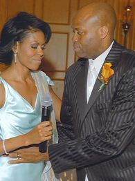 Michelle Obama and her brother Craig Robinson