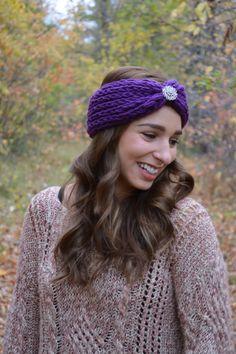 Crochet Earwarmer. Crochet Headband. Crochet Turban. by SmashLyn