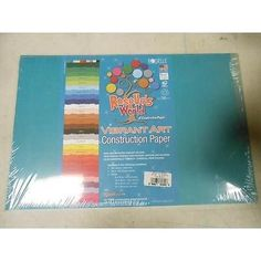 """Roselle Heavyweight Construction Paper, 12"""" X 18"""", 50 Sheets/Pack, Blue Green"""