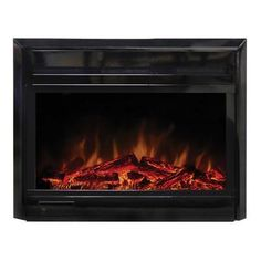 Shop Paramount Electric Retrofit Fireplace Insert at Lowe's Canada. Find our selection of fireplace inserts at the lowest price guaranteed with price match. Home Fireplace, Fireplace Mantels, Fireplace Ideas, Fire Inserts, Electric Fireplace Insert, Electric Fireplaces, Pot Storage, Real Fire, Fireplace Inserts