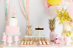 Tropical Flamingo Party on Kara's Party Ideas |