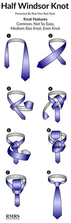 How To Tie A Half Windsor Knot Infographic #tiesknots