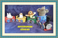 Artesanias Ecopao - Tren con vagones