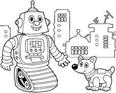 7 best ausmalbilder roboter images   robot theme, robot, coloring for kids