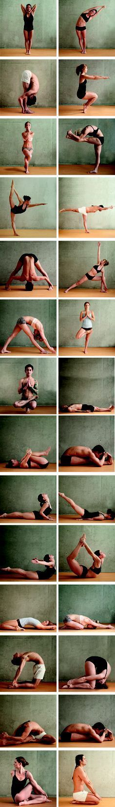 Beautiful examples of each pose in Bikram Yoga #yoga #fitness