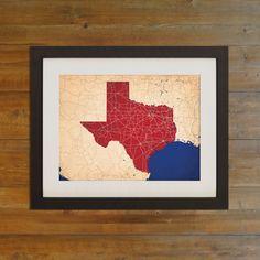 Texas | City Prints Map Art