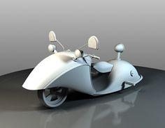 3d motorcycle modeling design