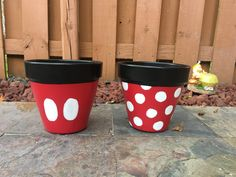 Mickey and Minnie Mouse Garden Planters