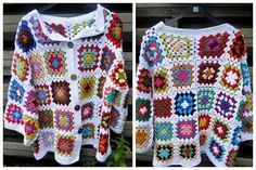 granny square vest patroon ile ilgili görsel sonucu