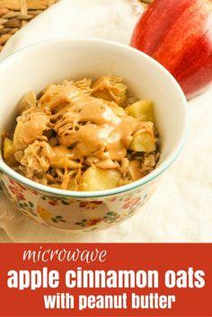 Microwave Apple Peanut Butter Oatmeal - Slender Kitchen
