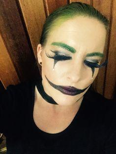 Joker/Harlequin makeup that I did on myself for Halloween
