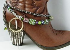 Shabby Chic and girly BOOT JEWELRY for wearing as by EmsJewelry, $24.99