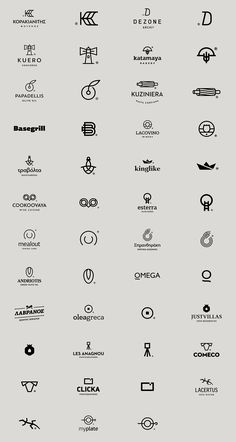 Logos in Black vol. II on Behance