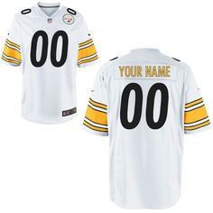 da064e7a6 Youth Pittsburgh Steelers Custom White Game NFL Jerseycheap nfl jerseys