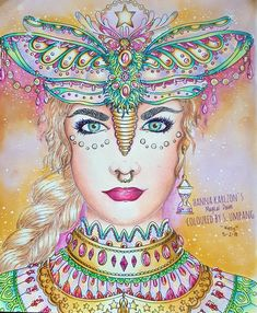 Color Inspiration Fairy Hanna Karlzon Magic Colorful Pictures Coloring Books Pages Adult Dawn