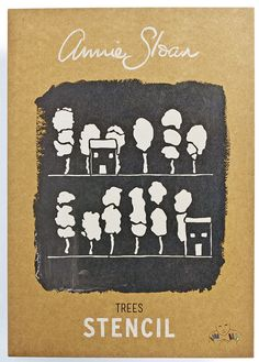 Annie Sloan Stencil Trees - £6.99. 287x410mm stencil, 207x188mm image size. Available from Dovetailsvintage.co.uk