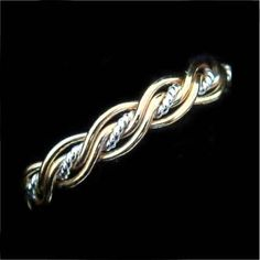 Rope Middle Five Strand Twist weave Braided Wedding Rings. Could make as a bracelet too...