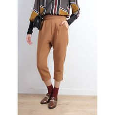 Retro Style Tapered Trousers