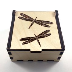 This beautiful keepsake box is perfect for storing your beloved jewelry and trinkets. The lovely, handmade, case has been designed, laser cut,