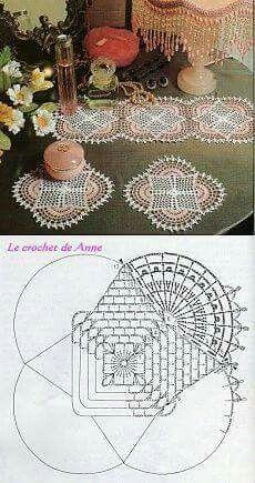 Doily filet crochet graph