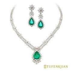 Emeralds and diamonds... sooo pretty a design. B.