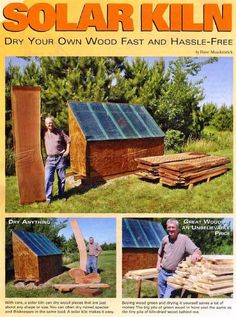 Solar Kiln Plans - Woodworking Tips and Techniques - Woodwork, Woodworking, Woodworking Plans, Woodworking Projects Woodworking Techniques, Woodworking Tips, Fun Projects, Wood Projects, Solar Kiln, Wood Kiln, Garage Workshop, Workshop Ideas, Wood Shed
